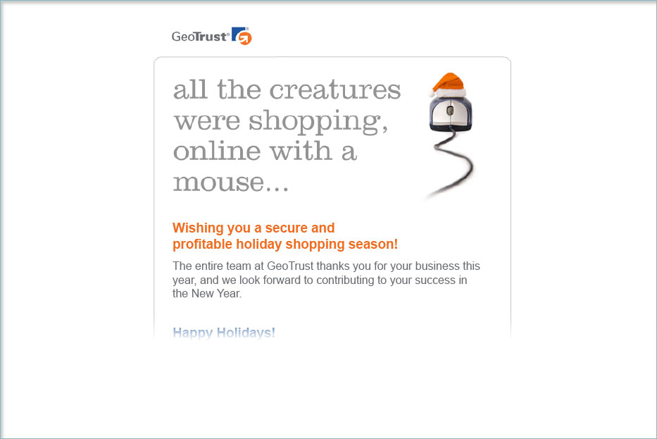 GeoTrust Holiday Email