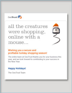 GeoTrust Holiday Email Thumbnail